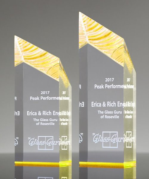 Picture of Gold Glacier Acrylic Award