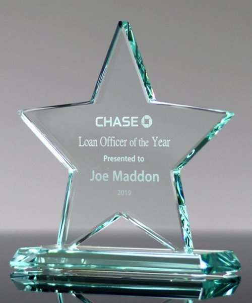 Picture of Laser Etched Glass Star Award