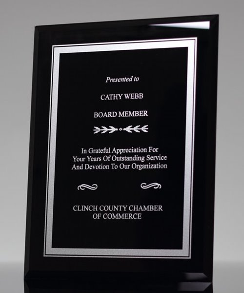 Picture of Tuxedo Glass Plaque