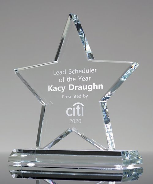 Picture of Clear Crystal Star Award