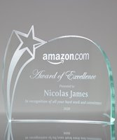 Picture of Curved Glass Star Award