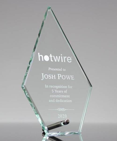 Picture of Laser Etched Glass Arrowhead Award