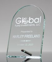 Picture of Laser Etched Glass Dome Award