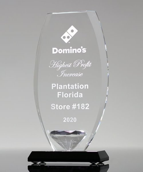 Picture of Diamond Shield Glass Award