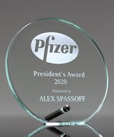 Picture of Laser Etched Glass Circle Award