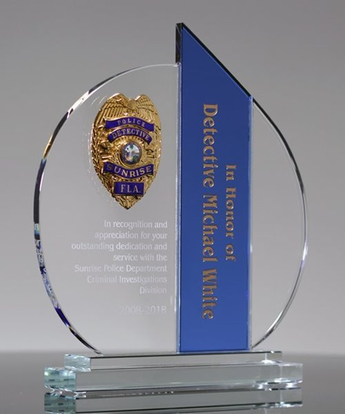 Picture of Law Enforcement Crystal Award