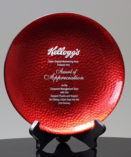 Picture of Artful Scarlet Plate