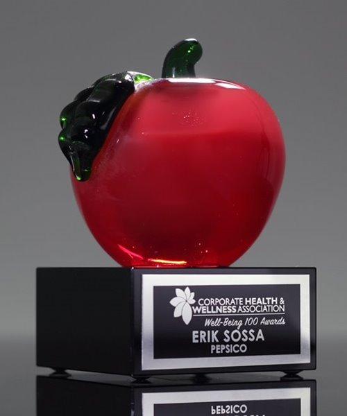 Picture of Achievement Crystal Apple Award
