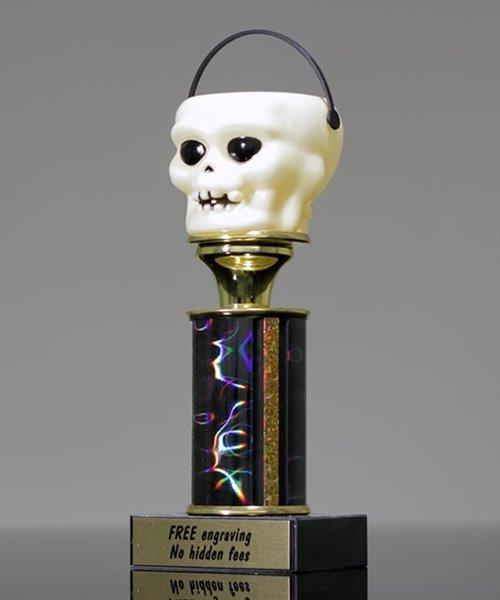 Picture of Skeleton Head Halloween Trophy