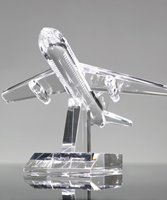 Picture of Boeing Airplane Crystal Award