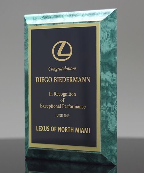 Picture of Emerald Finish Award Plaque