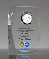Picture of Custom Printed Acrylic Clock Award