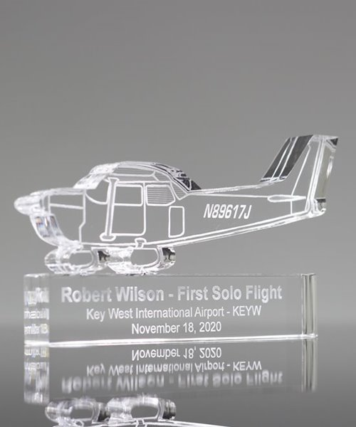 Picture of Acrylic Airplane First Solo Flight Award