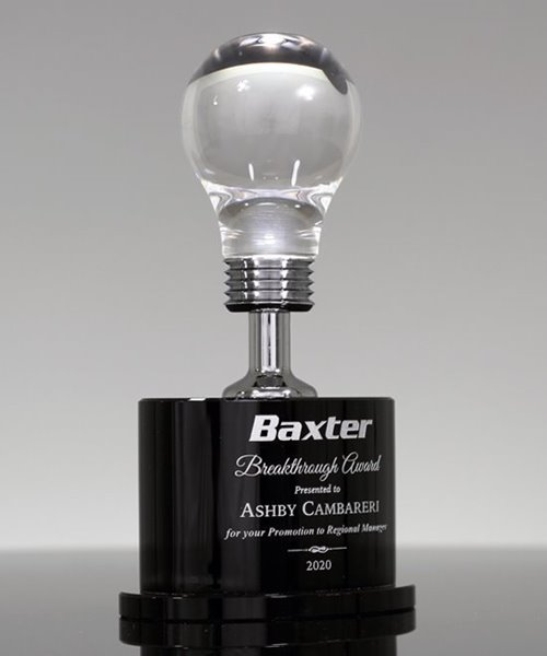 Picture of Brilliant Light Bulb Award