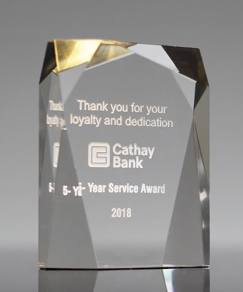 Picture of Spectra Prism Gold Acrylic Award