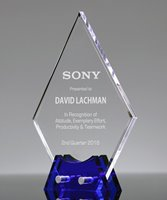 Picture of Sapphire Diamond Acrylic Award