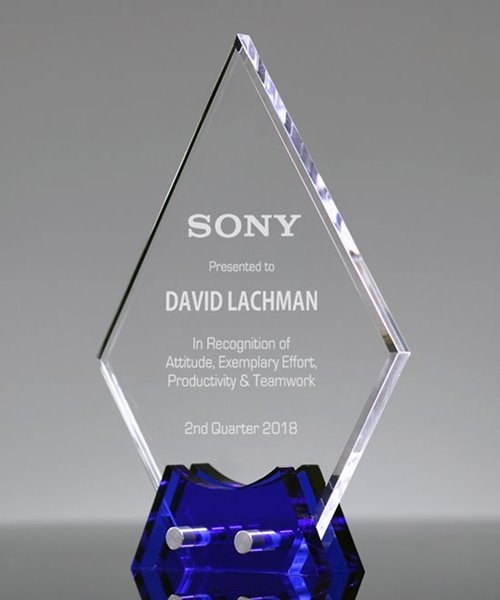 Picture of Sapphire Diamond Acrylic Award