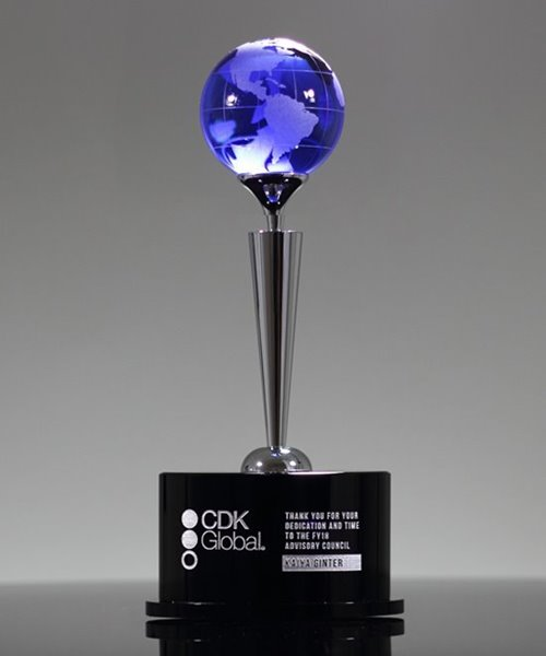 Picture of Spectacle World Globe Crystal Award
