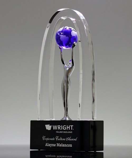 Picture of Allegory World Globe Crystal Award