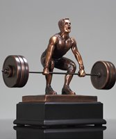 Picture of Male Weightlifter Deadlift Trophy