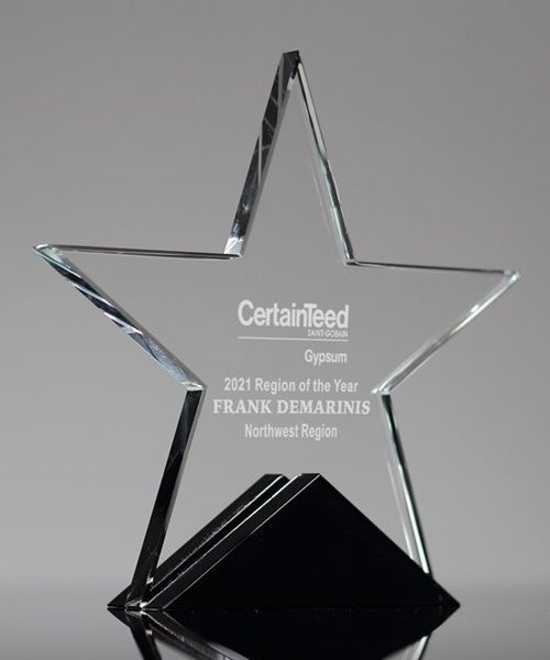 Picture of Apex Crystal Star Trophy
