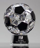 Picture of Faceted Crystal Soccer Trophy