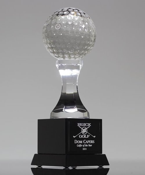 Picture of Crystal Golf Pillar Trophy