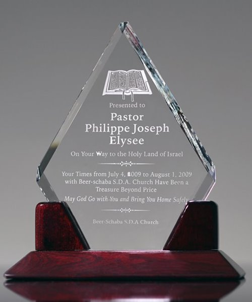 Picture of Religious Crystal Diamond Award