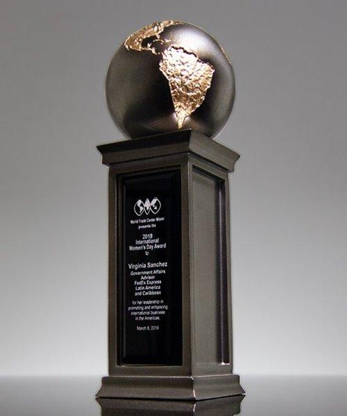 Picture of Galaxy World Globe Pillar Trophy