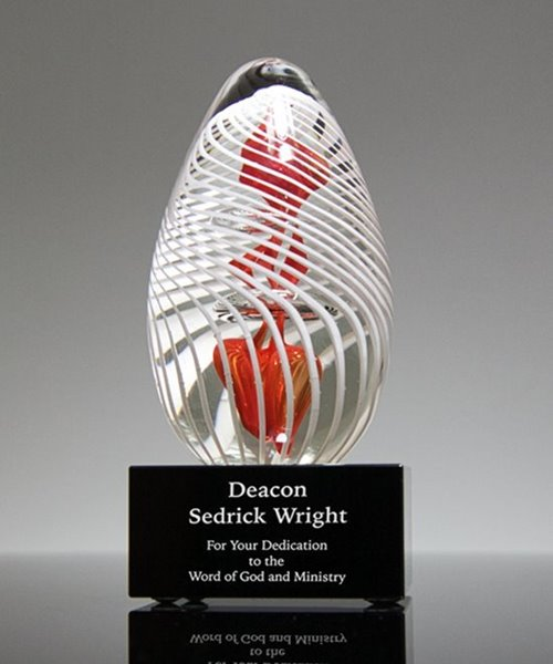 Picture of Cardinal Art Glass Trophy