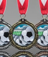 Picture of Soccer Ball Epoxy Medal