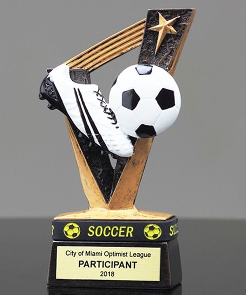 Picture of Soccer Trophy Band Resin