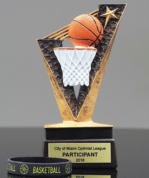 Picture of Basketball Trophy Band Resin