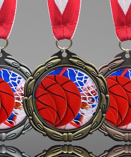 Picture of Epoxy Domed Basketball Medal