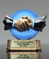 Picture of Color Handshake Trophy