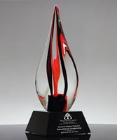 Picture of Inferno Red Art Crystal Award