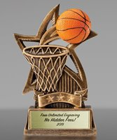 Picture of Sweeping Star Basketball Trophy
