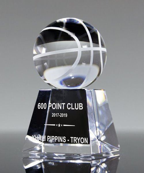 Picture of Top Basketball Crystal Trophy