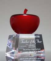 Picture of Red Crystal Apple on Base
