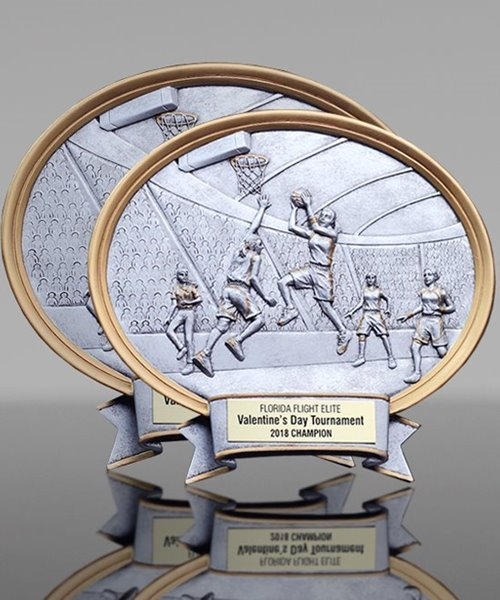 Picture of Ladies Basketball Plaque Oval