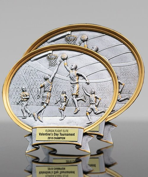Picture of Silverstone Oval Male Basketball Plaque