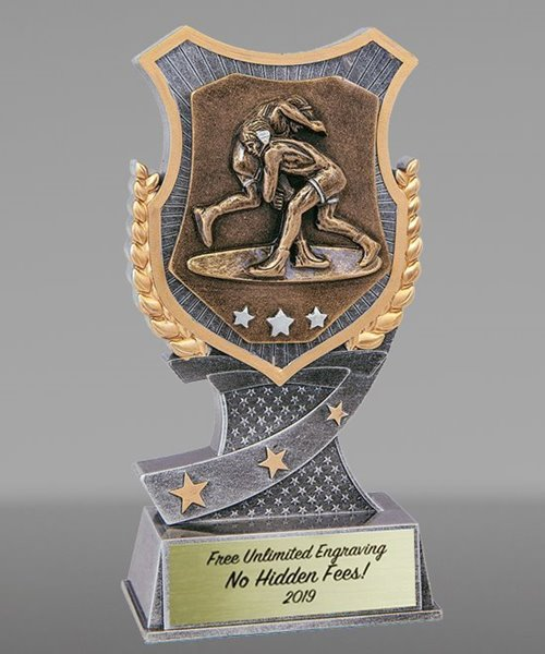 Picture of Pro Shield Wrestling Trophy