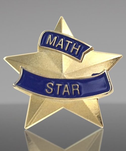 Picture of Math Star Lapel Pin