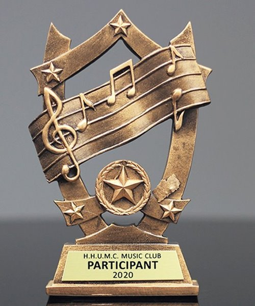Picture of Star Shield Music Trophy