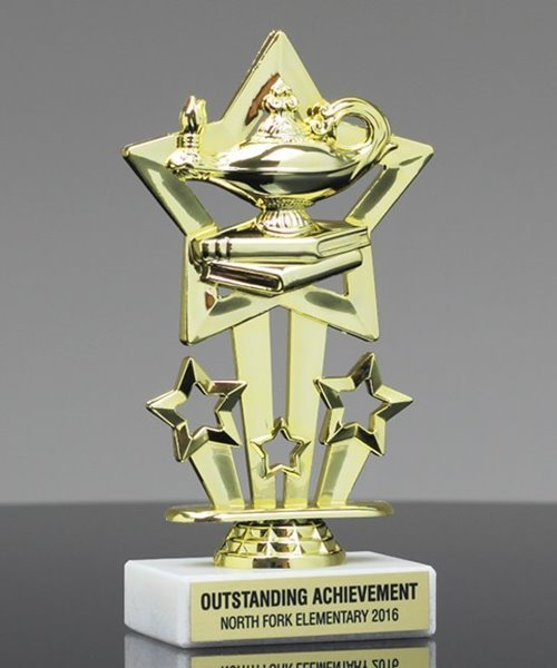 Picture of Star Theme Scholastic Trophy
