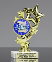 Picture of Music Note Ribbon Trophy