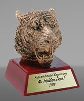 Picture of Gold Tiger Mascot Trophy