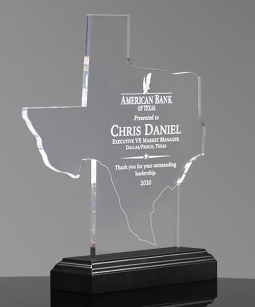 Picture of State of Texas Acrylic Award