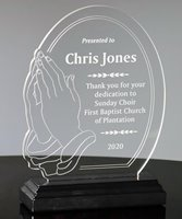 Picture of Praying Hands Acrylic Award