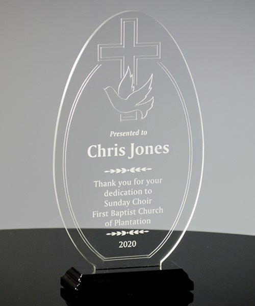 Picture of Cross & Dove Acrylic Award